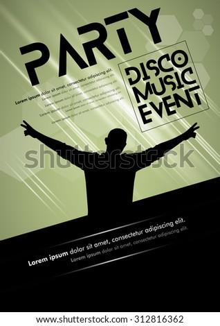 Disco Music Event, Vector - stock vector