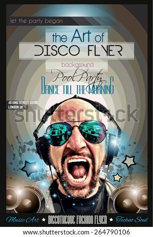 Disco Night Club Flyer Layout Dj Stock Vector 268673162 - Shutterstock