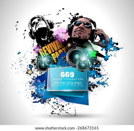 Disco Night Club Flyer Layout Dj Stock Vector Hd Royalty Free