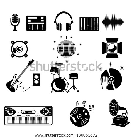 Disco Or Club Icons - stock vector