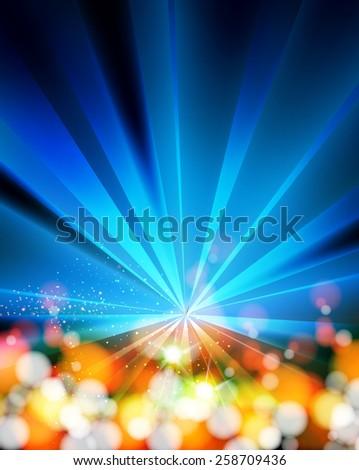 Disco Party Background Template, easy editable - stock vector