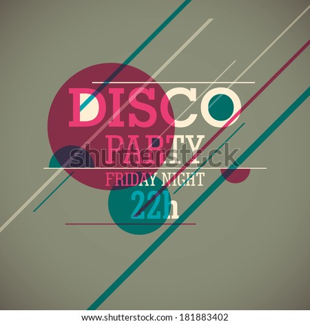 Disco party background. Vector illustration. - stock vector