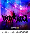 Disco party poster eps10 - stock