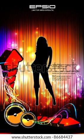 Disco party poster eps10 - stock vector