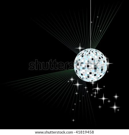 disco sphere - vector - stock vector
