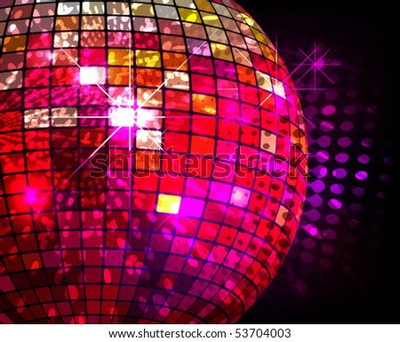 discotheque vector - stock vector