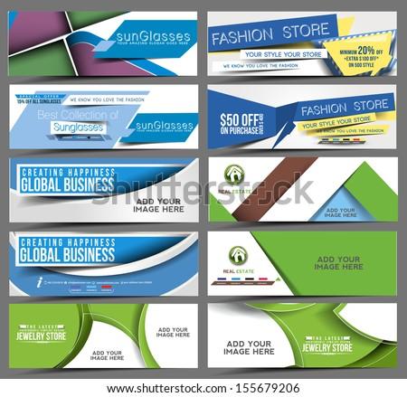 discount banner, header  - stock vector