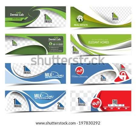 discount banner, header  - stock vector