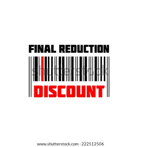 Discount  BARCODE, Isolated over background and groups, vector ILLUSTRATION, shopping label with barcode