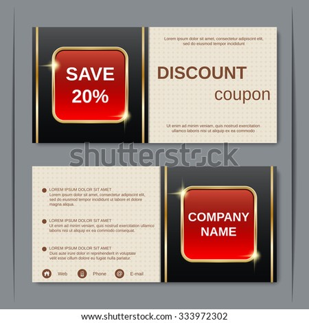 Discount coupon gift voucher gift certificate stock vector 333972302 discount coupon gift voucher gift certificate invitation card label sticker design stopboris Images