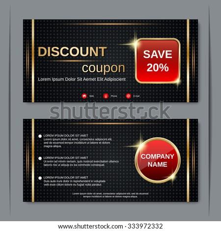 Discount coupon gift voucher gift certificate stock vector 333972332 discount coupon gift voucher gift certificate invitation card label sticker design stopboris Choice Image