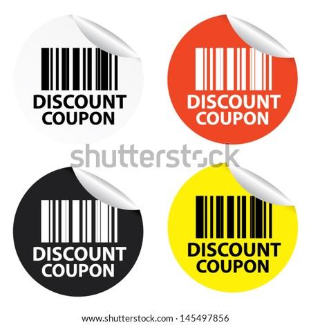 Discount Coupon stickers. Vector - stock vector