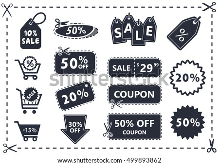 Coupons vector icon