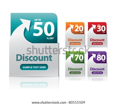 discount label - stock vector