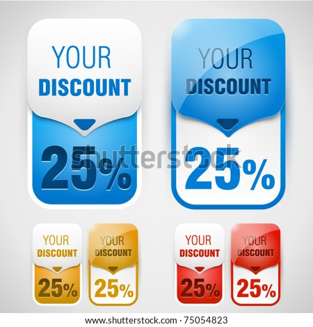 Discount labels. Vector - stock vector