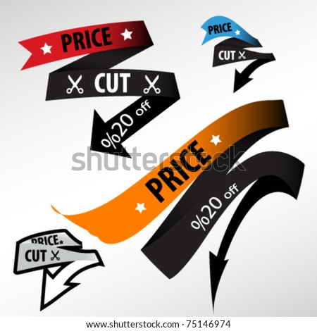 discount price tag - stock vector