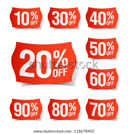 Discount price tags. Vector. - stock vector