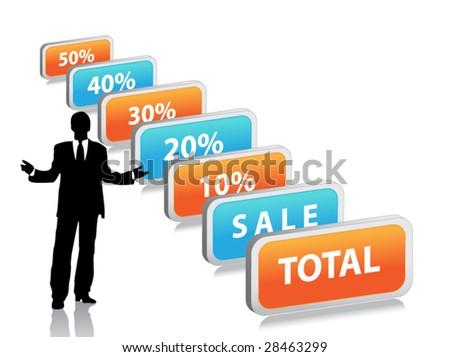 Discount sale - stock vector