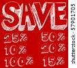 Discount Savings Text - stock photo