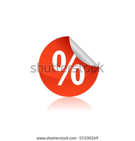Discount tag - stock vector