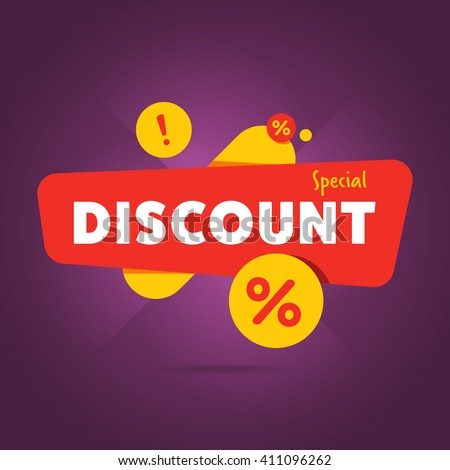 discount tag with special offer sale sticker promo tag discount offer layout sale label