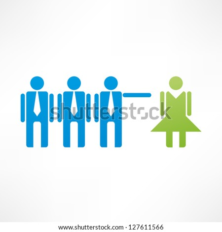 Discrimination icon - stock vector
