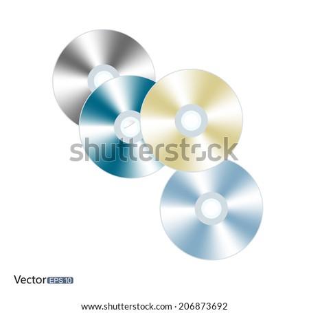 Discs - stock vector