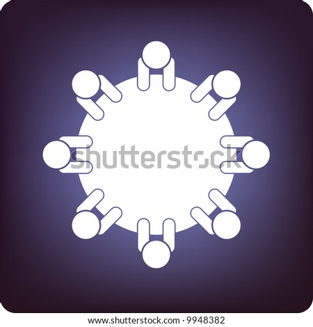 discussion - stock vector
