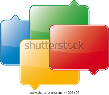 discussion (vector symbol) - stock vector