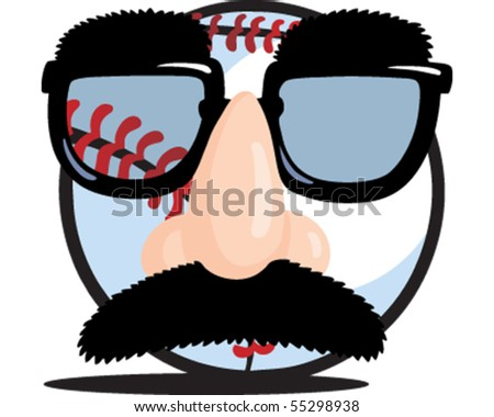 Disguise Baseball - stock vector