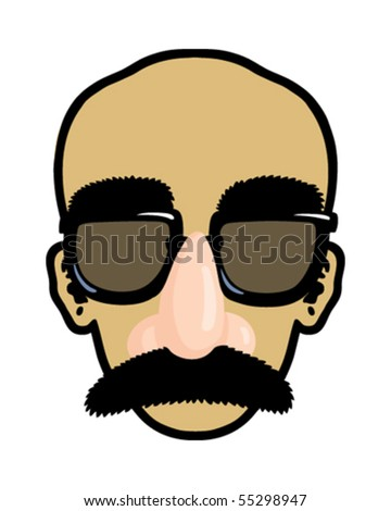 Disguise face - stock vector