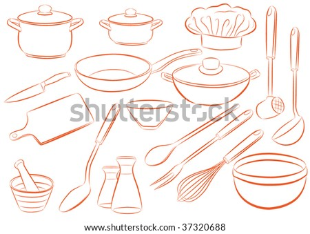 Dishes - stock vector