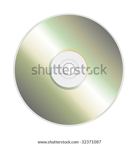 disk cd dvd isolated