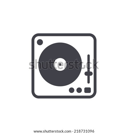 Disk Jockey turntable icon - stock vector
