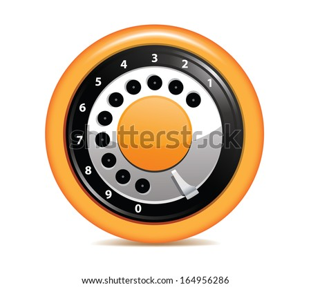 Disk Phone Dial Icon