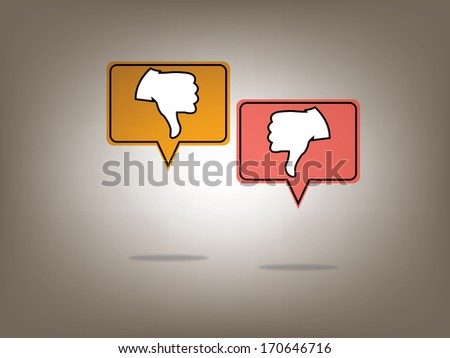 Dislike Social Media network Illustration, Vector, Icon - stock vector