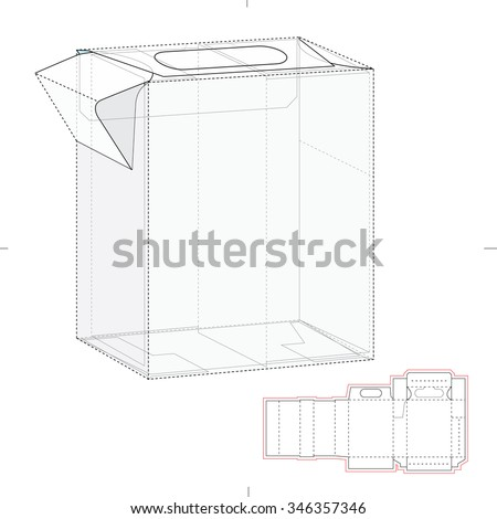Dispenser Box with Die Cut Template