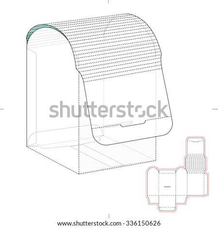 Empty Box Carrier Dividers Die Cut Stock Vector 346846637