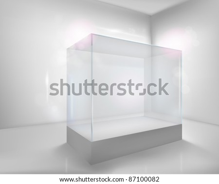 Display case. Vector illustration. - stock vector
