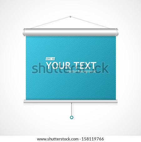 display on blue background - stock vector