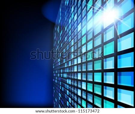 Display panel. Vector illustration. - stock vector