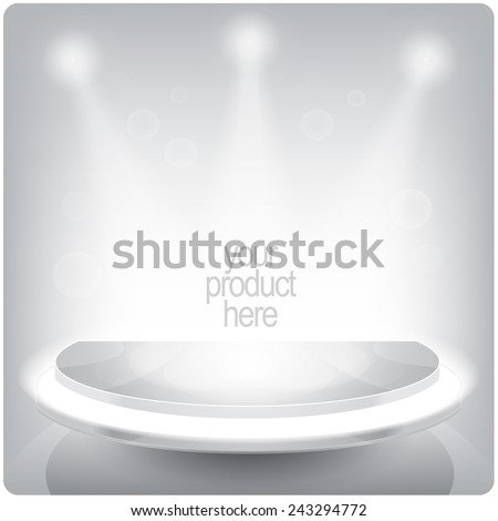 Display product, stage, or podium vector illustration  - stock vector