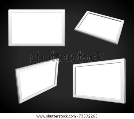 Display screens set vector illustration. Eps 10. - stock vector