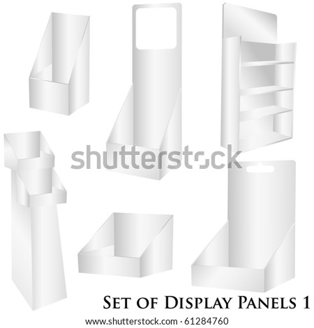 Display vector illustration isolated on white - stock vector
