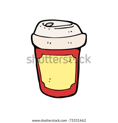 disposable coffee cup cartoon