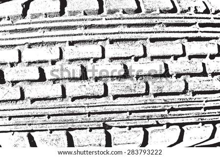 Distress Overlay Texture - protector trace. EPS10 vector. - stock vector