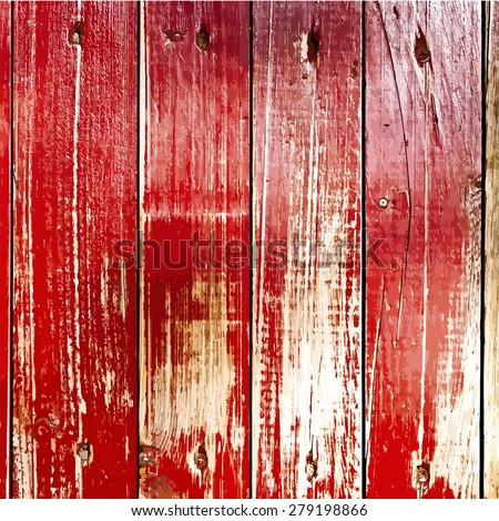 Distress painted wooden planks background for your design. EPS10 vector. - stock vector