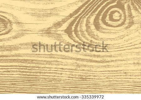 Distress wooden grainy texture for your design. EPS10 vector. - stock vector