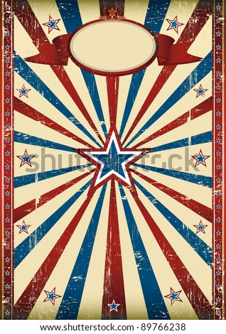 Distressed american frame. A grunge background with a texture for your advertising. - stock vector