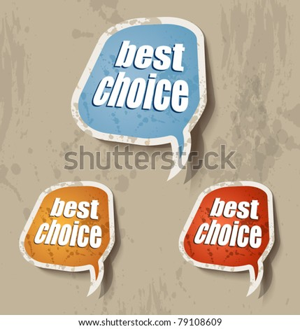 Distressed Cloud Speech bubbles set with 4 grunge colours. Shadows are transparent. - stock vector